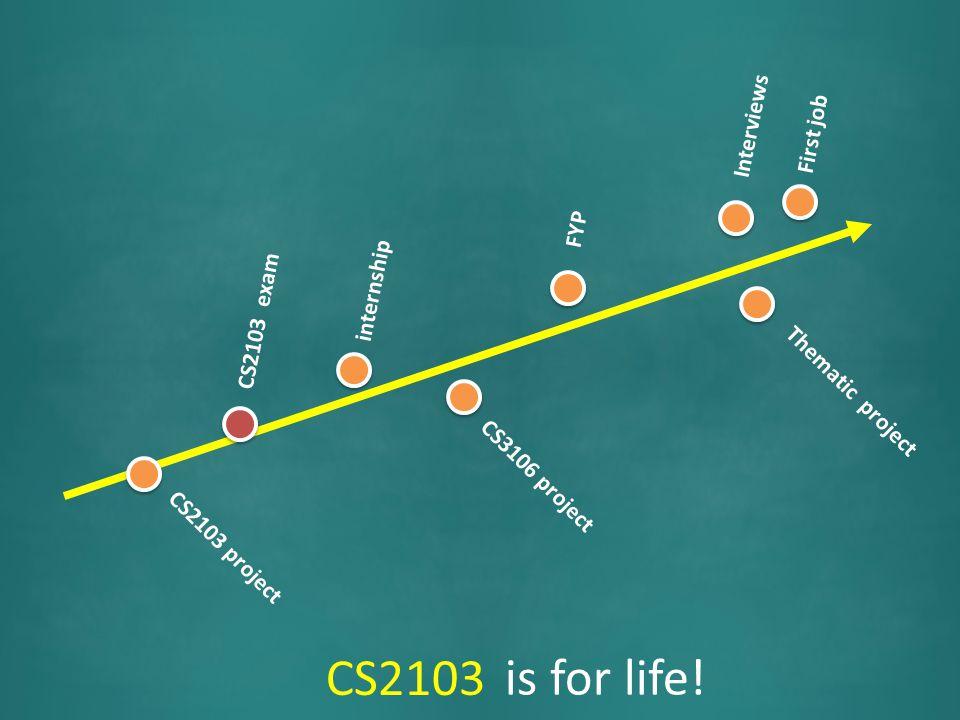CS2103 project CS2103 exam CS2103