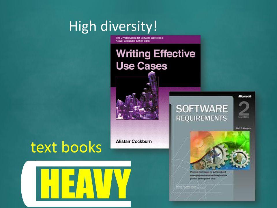 High diversity!