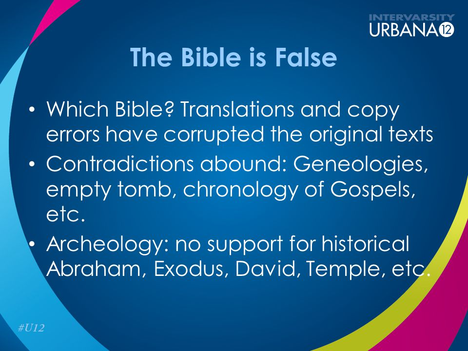 The Bible is False Which Bible.