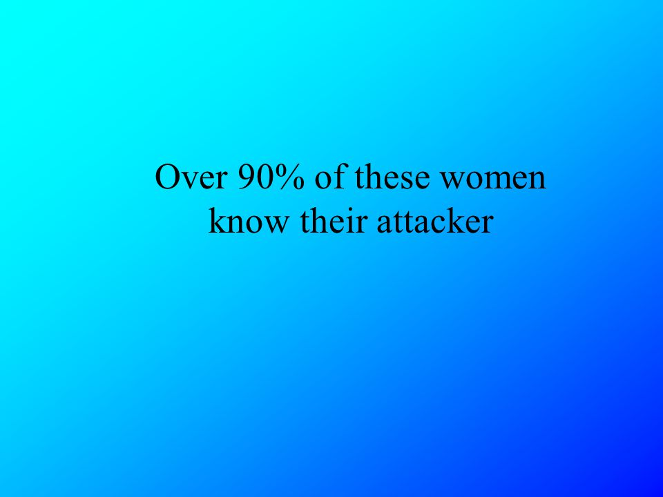 Over 90% of these women know their attacker