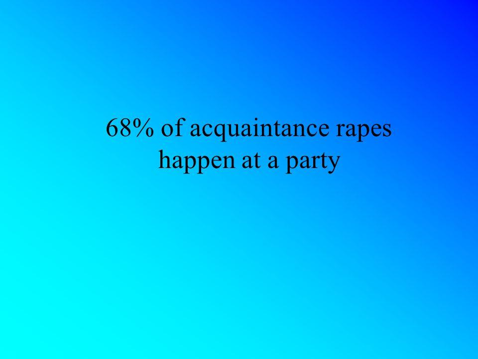 68% of acquaintance rapes happen at a party