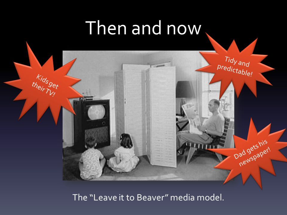 Then and now The Leave it to Beaver media model.