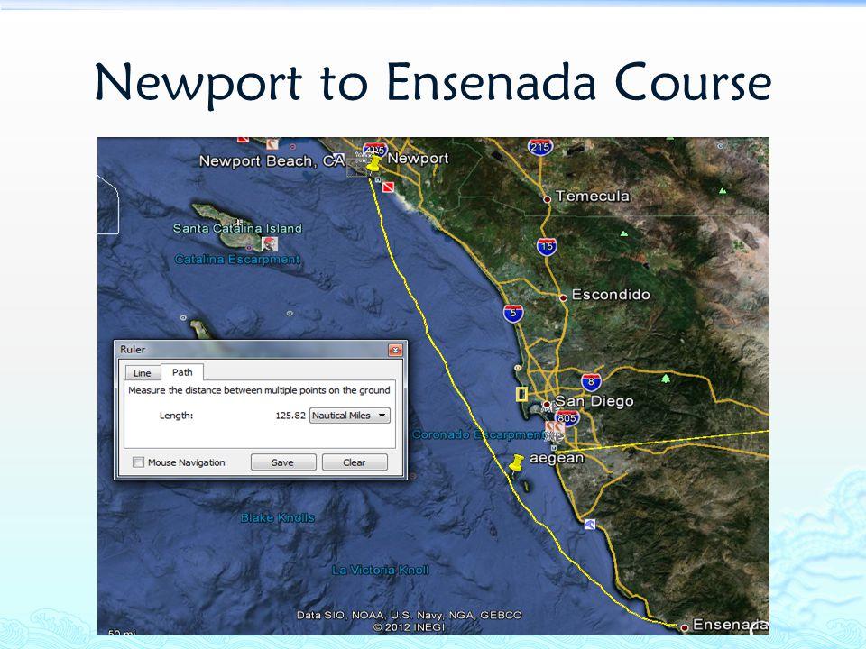 Newport to Ensenada Course