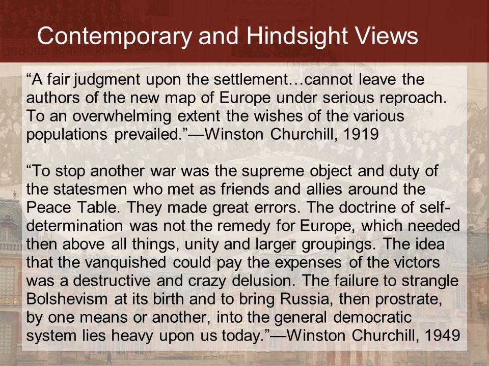 Contemporary and Hindsight Views
