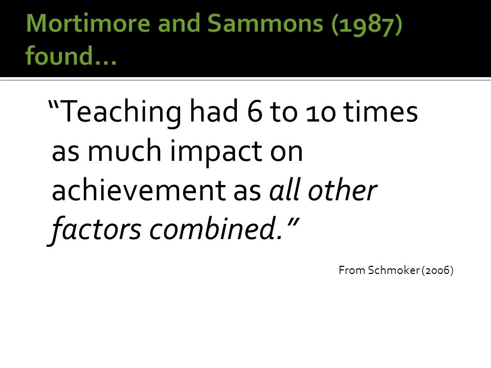  Focused on the ACT of teaching Goal: To increase awareness of the need for change and foster a desire to learn.