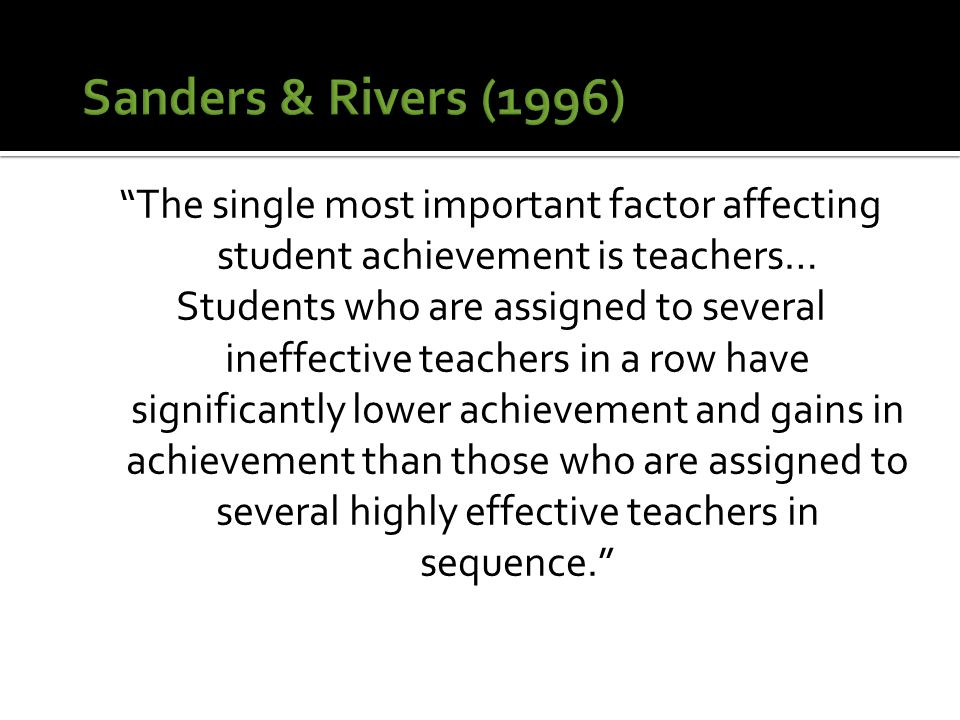 Success [in education] hinges on what happens at the classroom level.