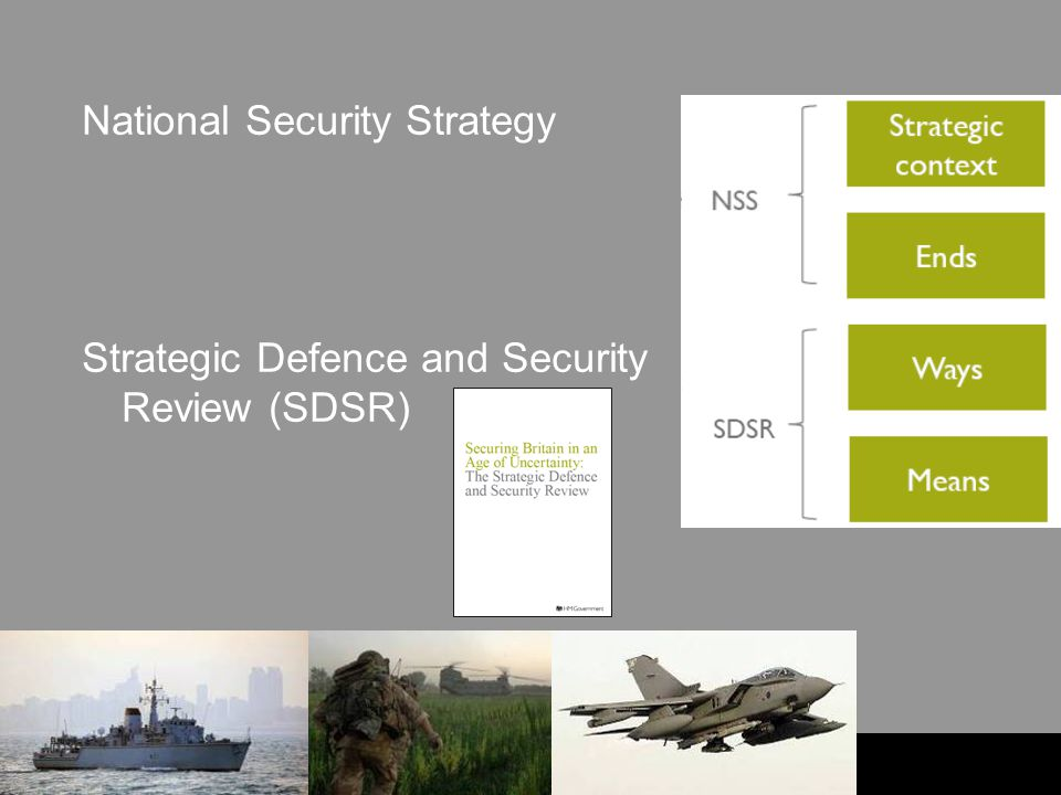 UNCLASSIFIED National Security Strategy Strategic Defence and Security Review (SDSR)