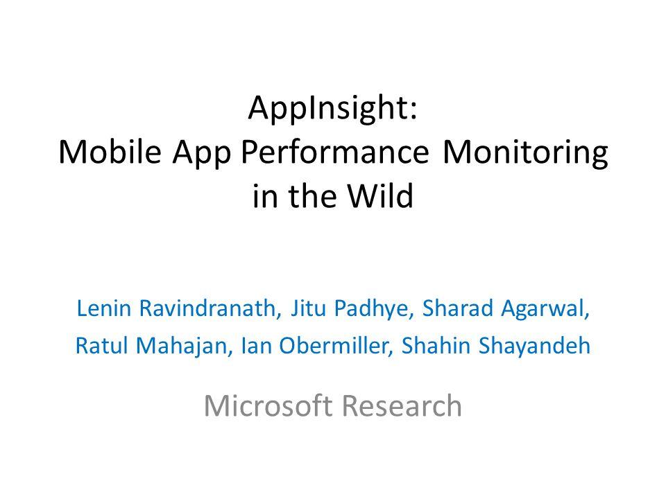 App Instrumenter App Instrumented App Marketplace Downloads Analysis Developer Feedback Developer Feedback Server Traces Developer