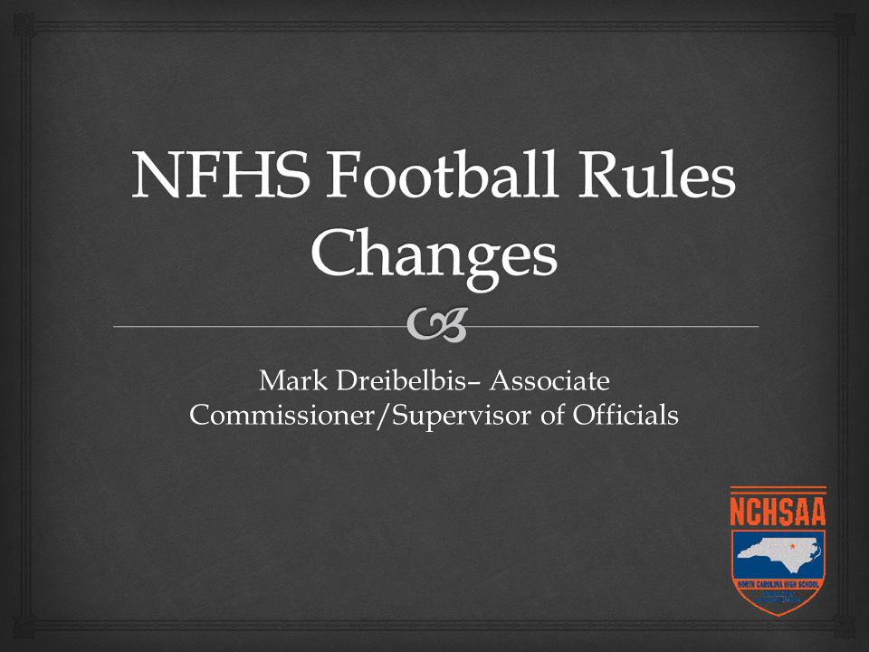 Mark Dreibelbis– Associate Commissioner/Supervisor of Officials