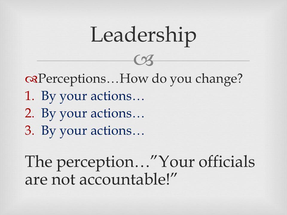  Leadership  Perceptions…How do you change.