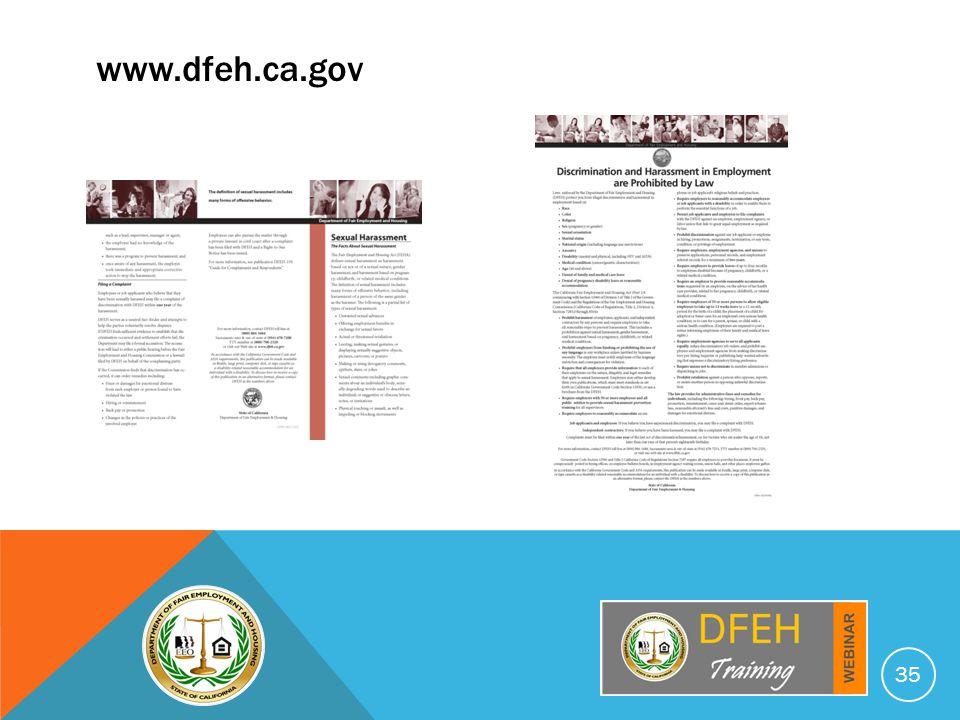 35 www.dfeh.ca.gov