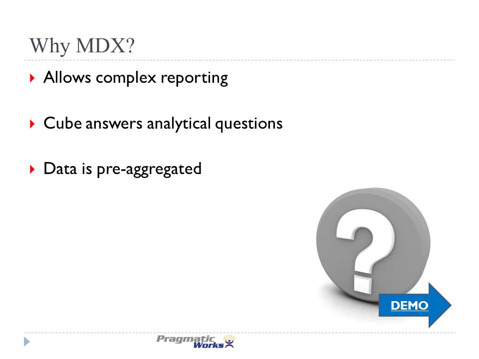 Why MDX.