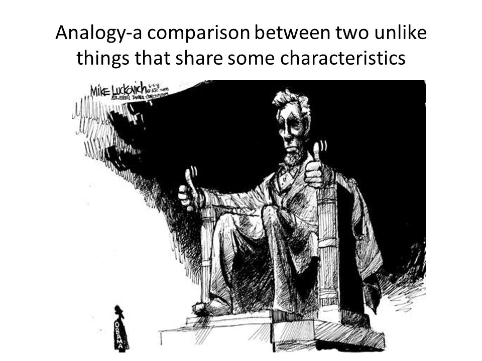 Analogy-a comparison between two unlike things that share some characteristics