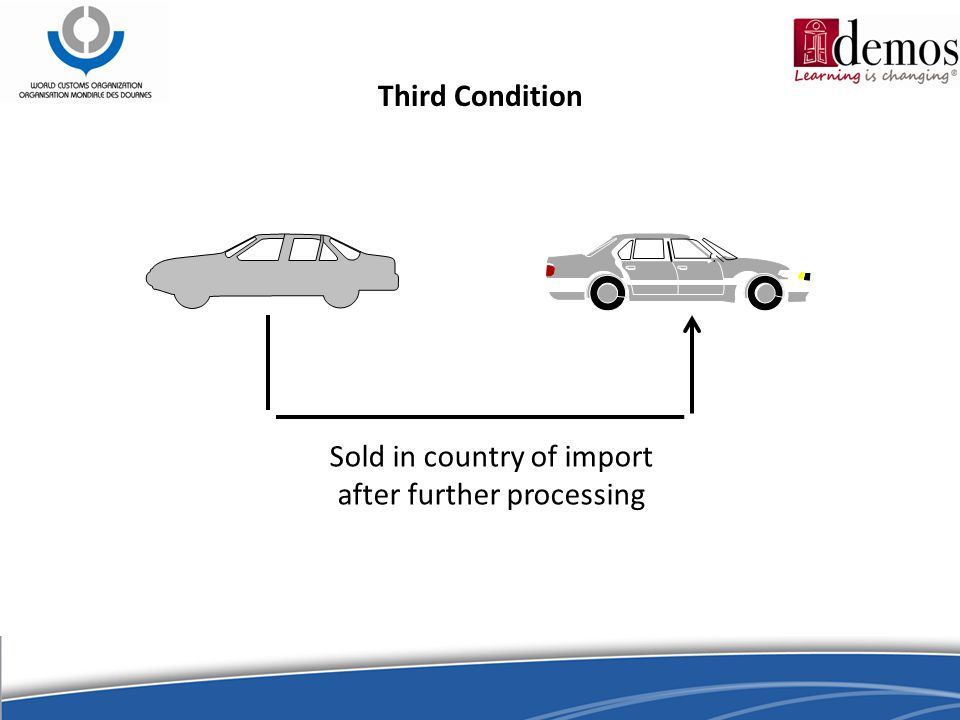 Third Condition Sold in country of import after further processing