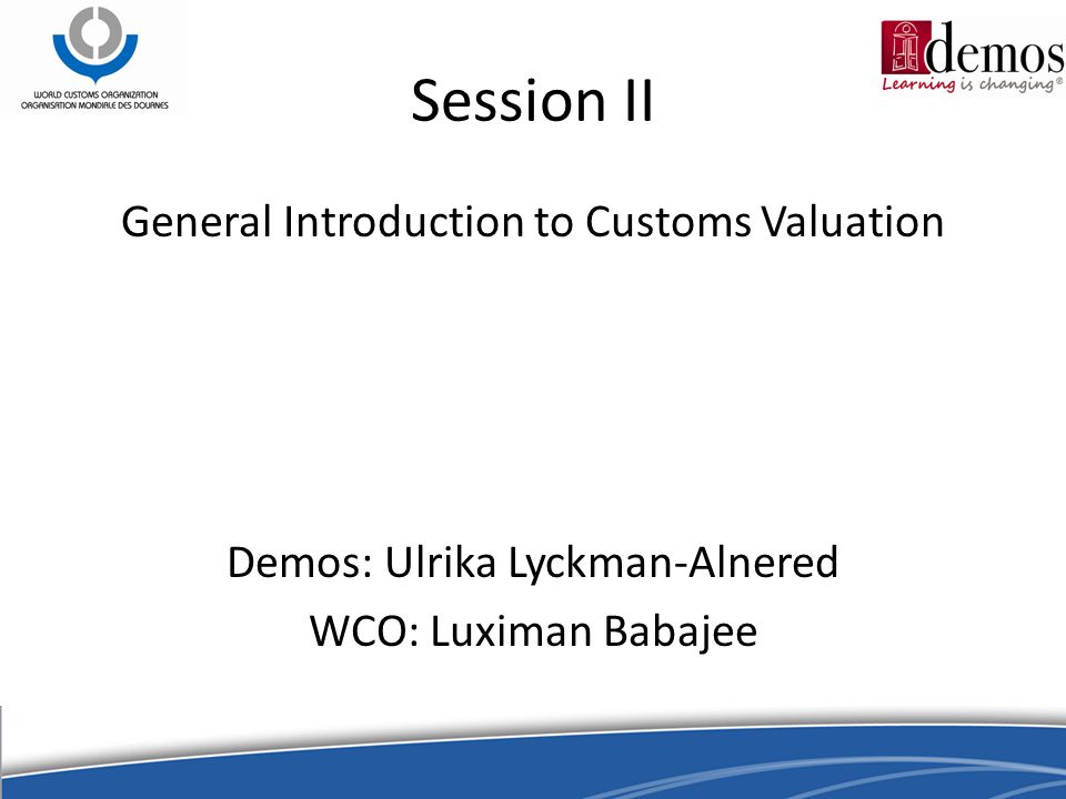 Session V Compulsory adjustments, optional adjustments, assists & royalties, successive sale and freight terms.
