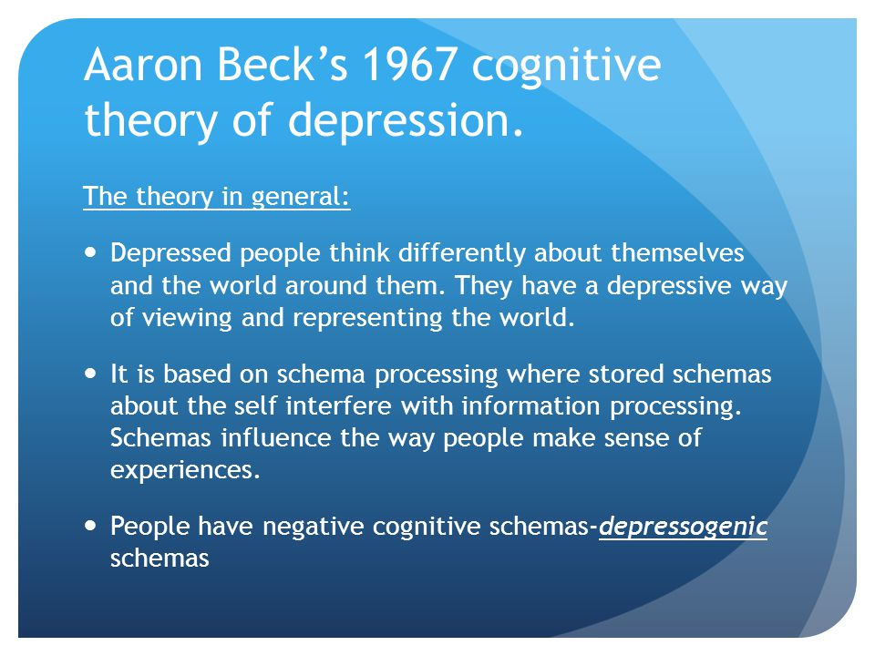 Specifically Seeing the self in negative terms can lead to errors in thinking.