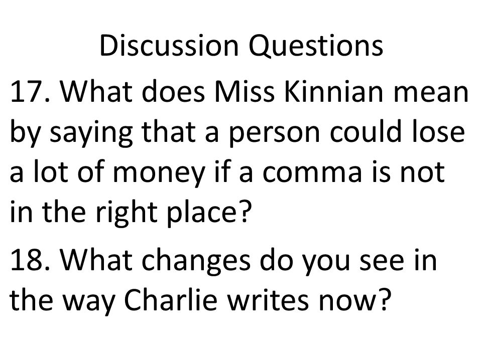 Discussion Questions 17.