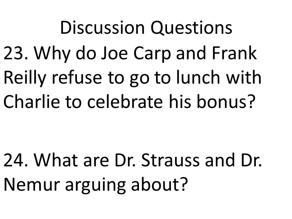 Discussion Questions 23.
