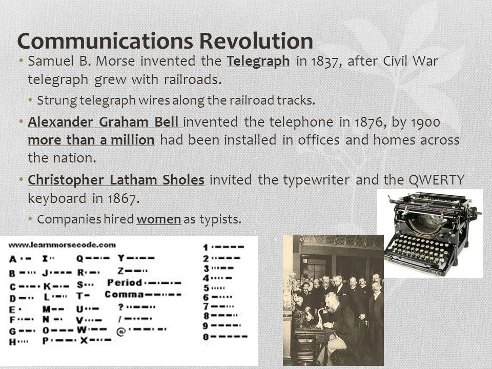 Communications Revolution Samuel B.
