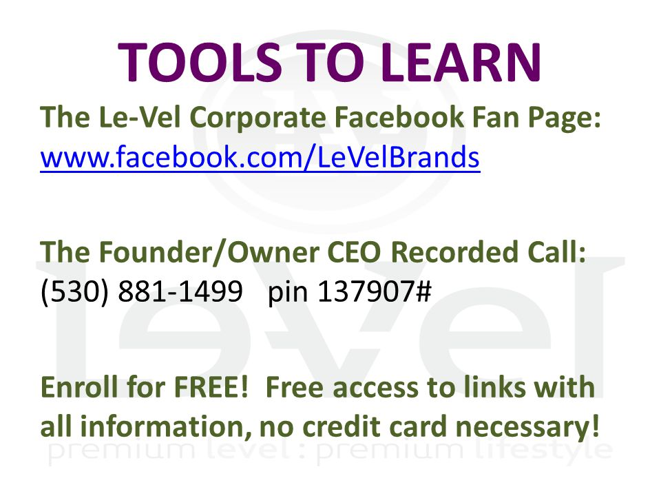 CLOUD OFFICE www.Courage2Believe.Le-Vel.com CLOUD LOGIN (far RIGHT) NOTE: Replace Courage2Believe with YOUR USERNAME