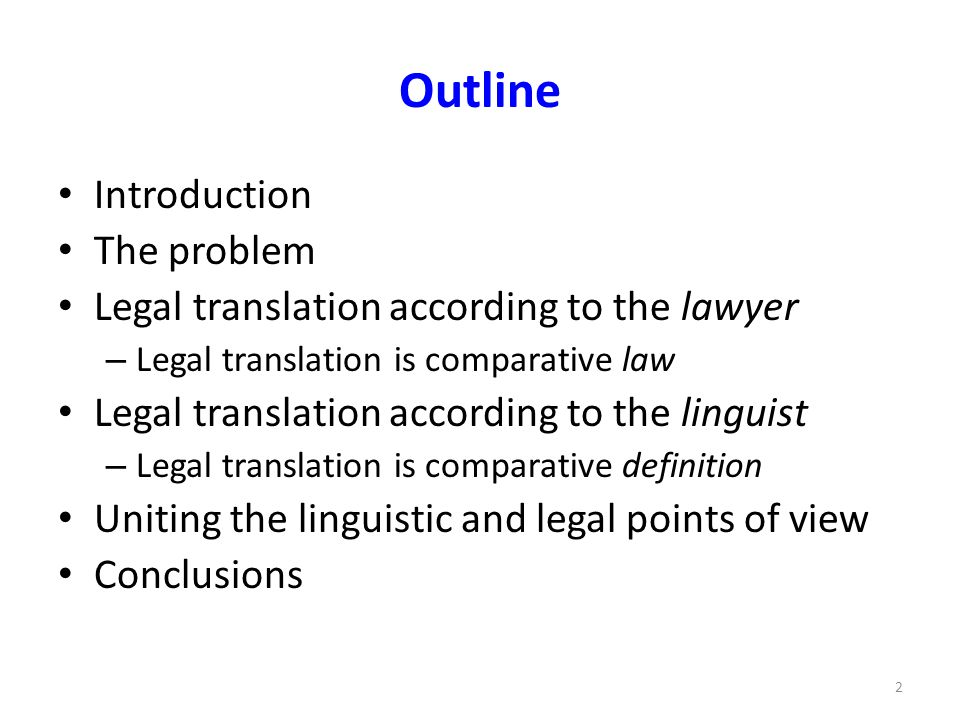 Introduction Central thesis: higher quality of legal translation in criminal proceedings through comparative law Case in point: the specialist eight-month course on legal translation in criminal proceedings offered by the Dutch training institute for legal interpreters and translators SIGV – Output: successful candidates qualify for entry in the government-supervised register of sworn translators 3