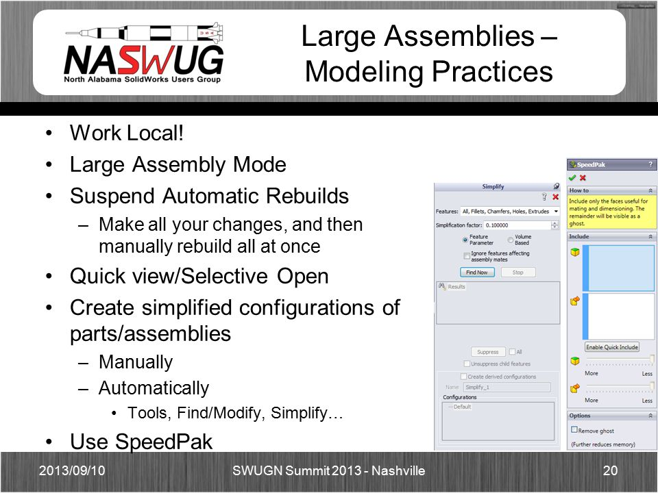 Large Assemblies – Modeling Practices Work Local.