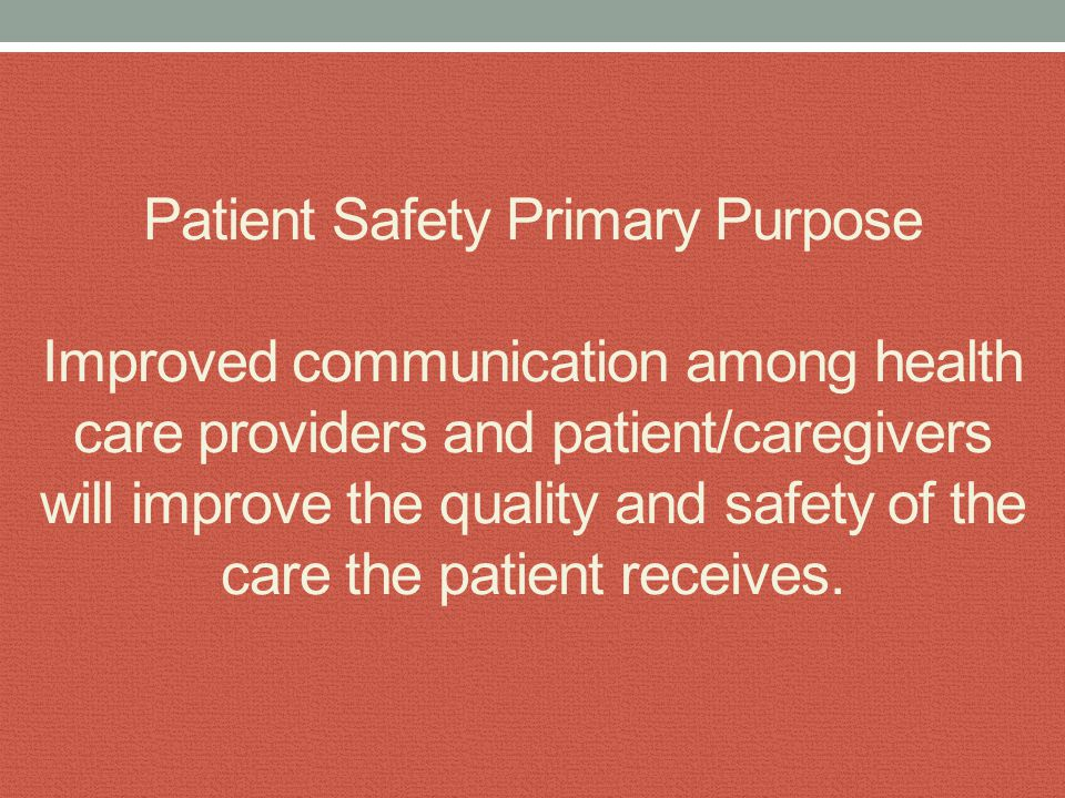 National Patient Safety Goal focused on improving the effectiveness of communication among caregivers.