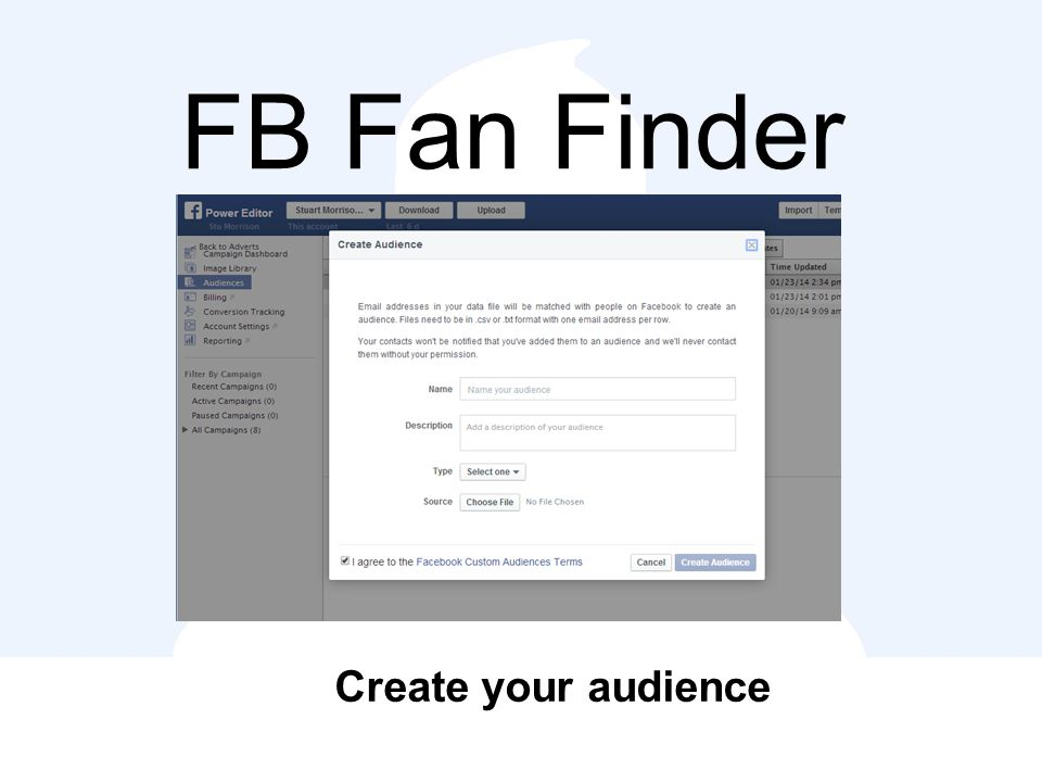 FB Fan Finder Create your audience