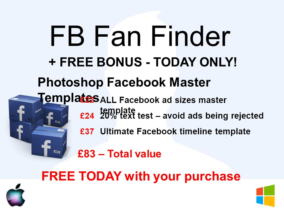 FB Fan Finder + FREE BONUS - TODAY ONLY.