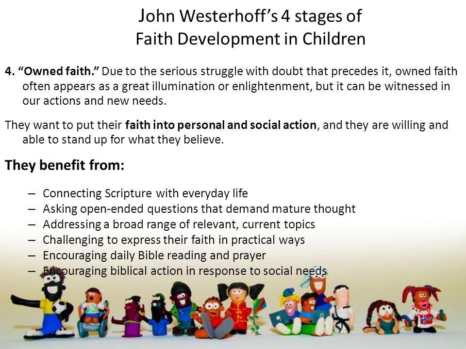 J ohn Westerhoff's 4 stages of Faith Development in Children 4.