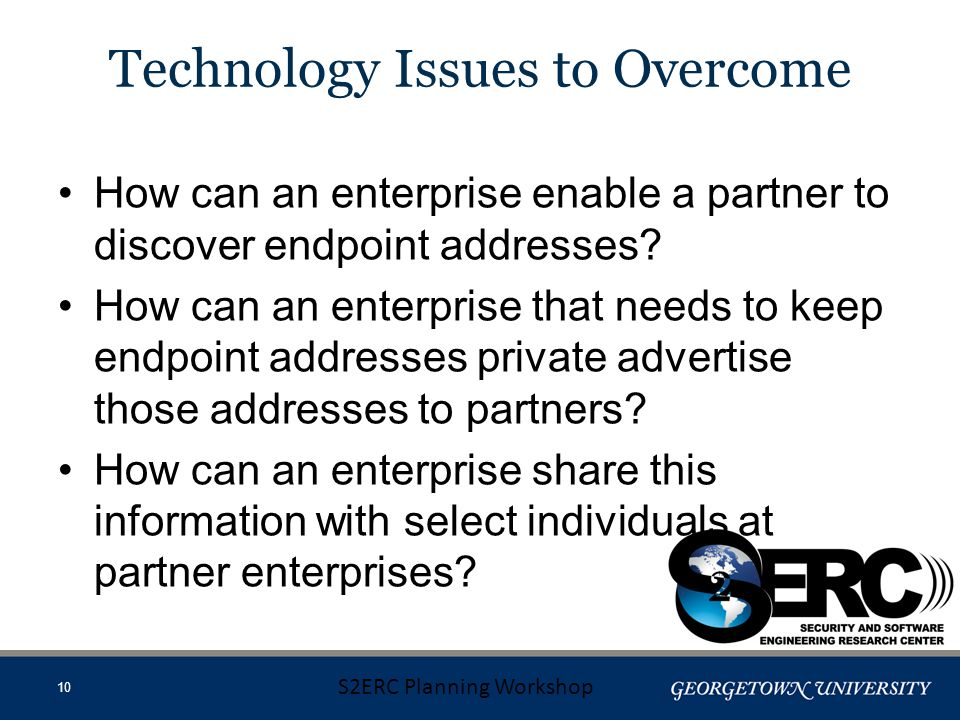 How can an enterprise enable a partner to discover endpoint addresses.
