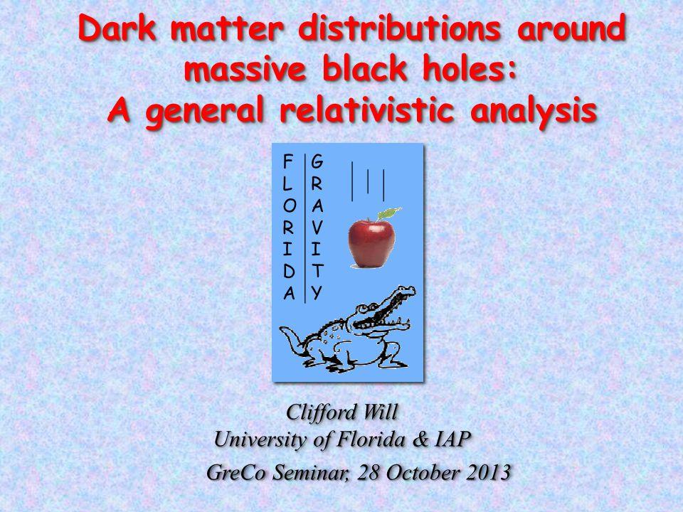 Dark matter distributions around massive black holes: A general relativistic analysis Dark matter distributions around massive black holes: A general