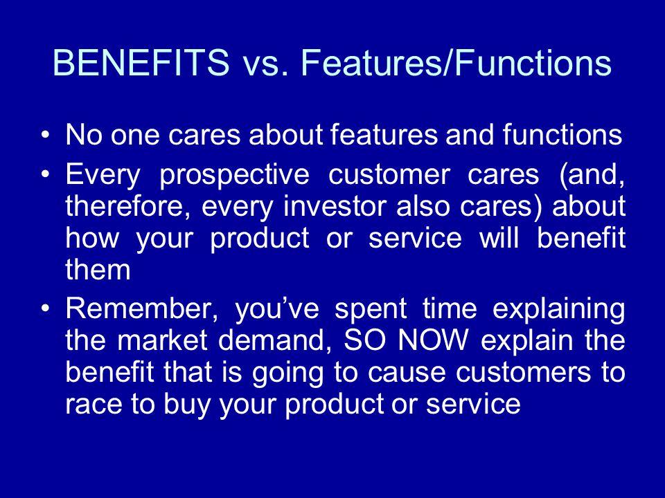 BENEFITS vs.