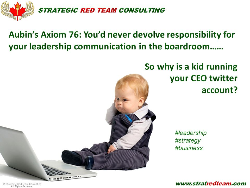 © Strategic Red Team Consulting All Rights Reserved #leadership #strategy #business