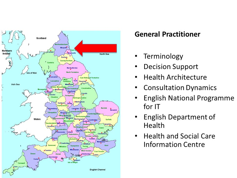 General Practitioner Terminology Decision Support Health Architecture Consultation Dynamics English National Programme for IT English Department of Health Health and Social Care Information Centre