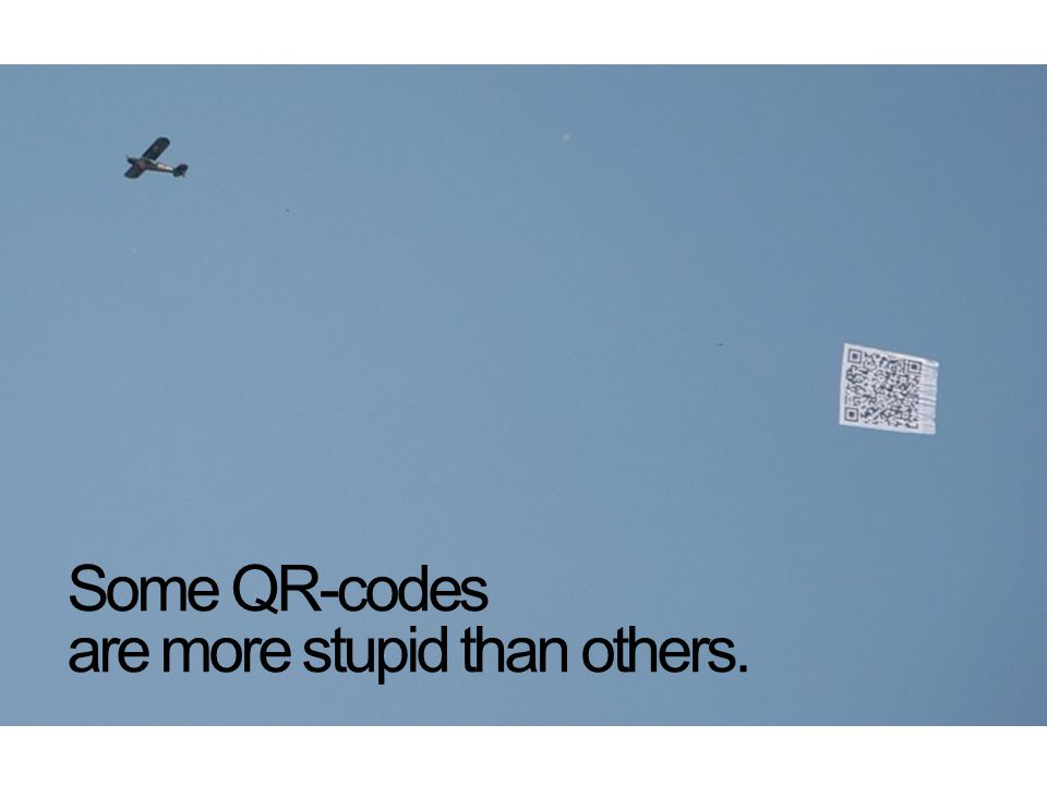 Some QR-codes are more stupid than others.