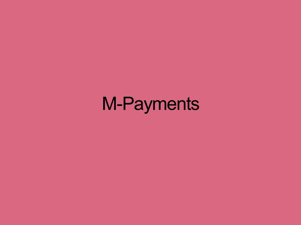 M-Payments