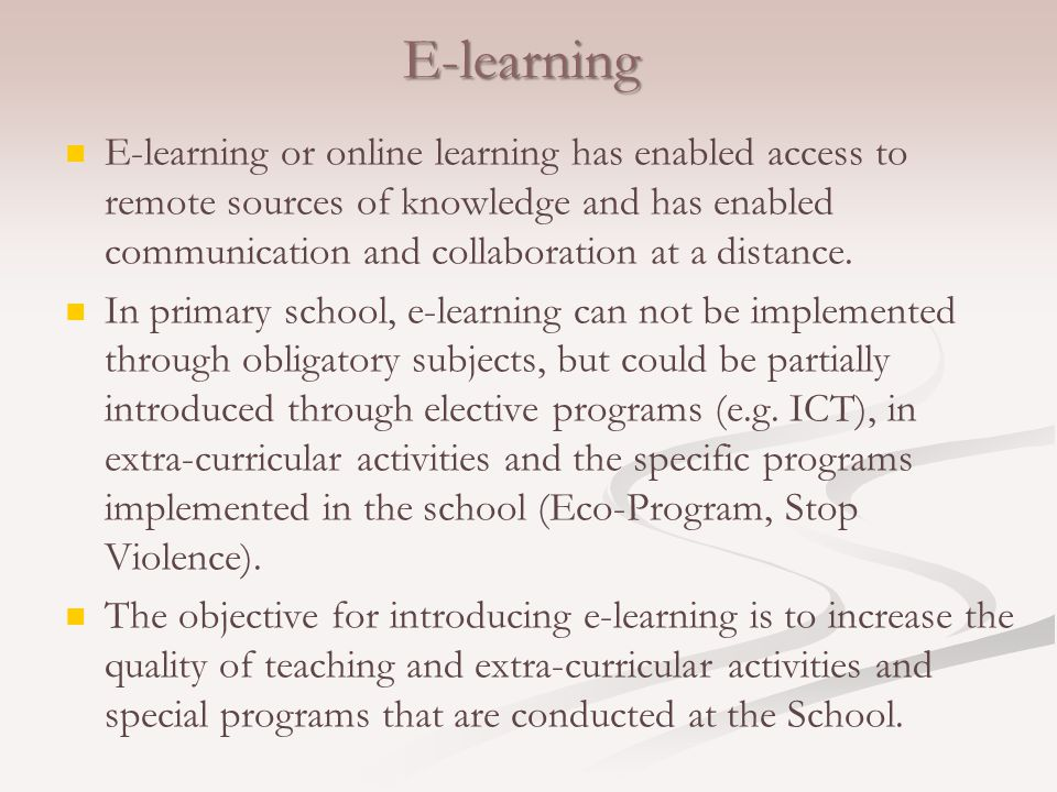 LMS (Learning Management System) Moodle Moodle is used to create e-courses for distance learning.