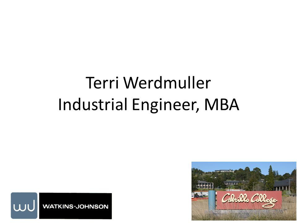 Terri Werdmuller Industrial Engineer, MBA