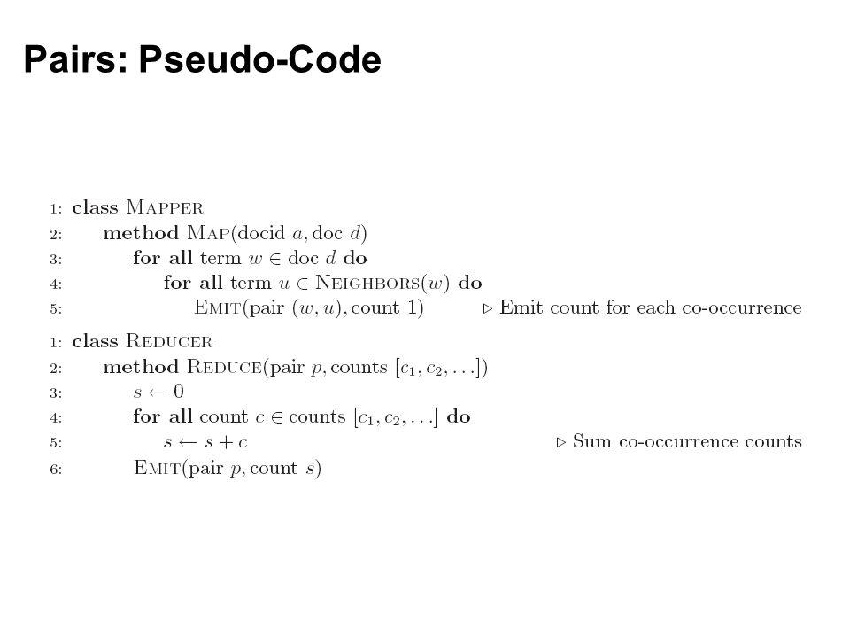 Pairs: Pseudo-Code