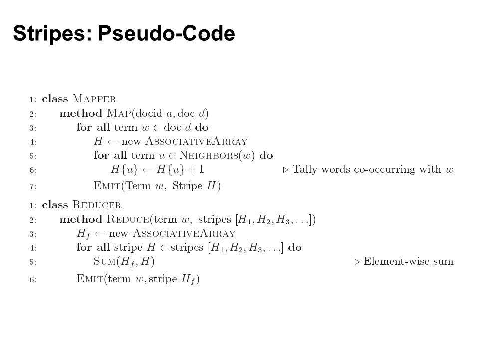 Stripes: Pseudo-Code