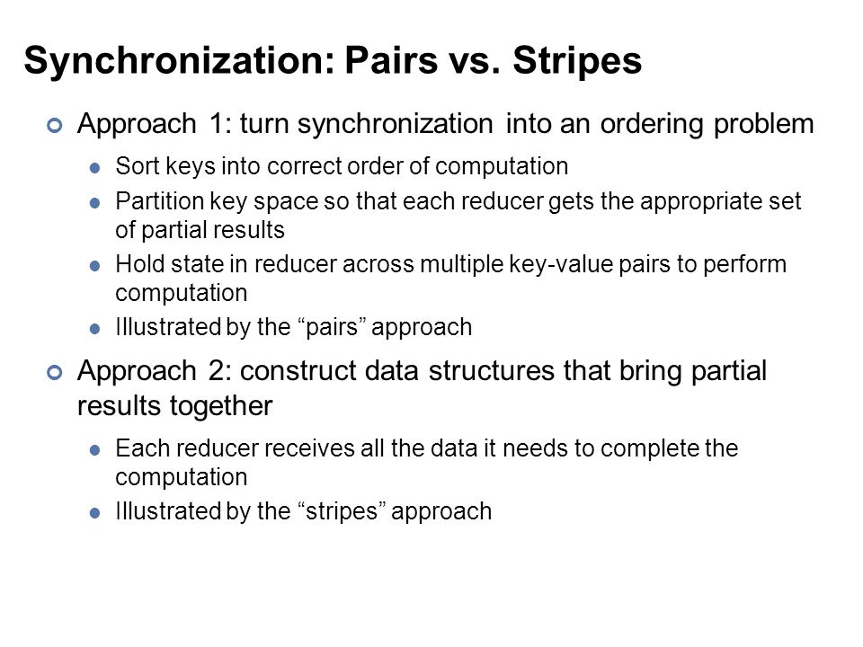 Synchronization: Pairs vs.