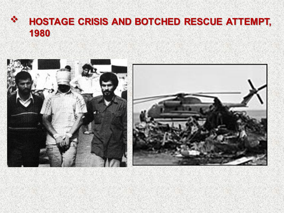  HOSTAGE CRISIS AND BOTCHED RESCUE ATTEMPT, 1980