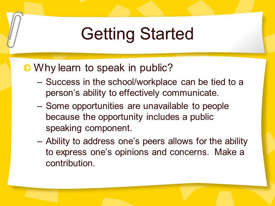 The Communicative Act There are 5 steps in the communication process: –Speaker wishes to communicate an idea –Speaker encodes the idea into a message –Message is sent through a channel to a audience –Audience receives and decodes message –Audience responds to the message.
