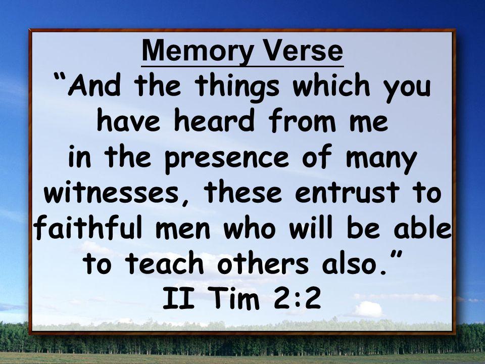 II Timothy 2 Workman vs.15-19Vessel vs.