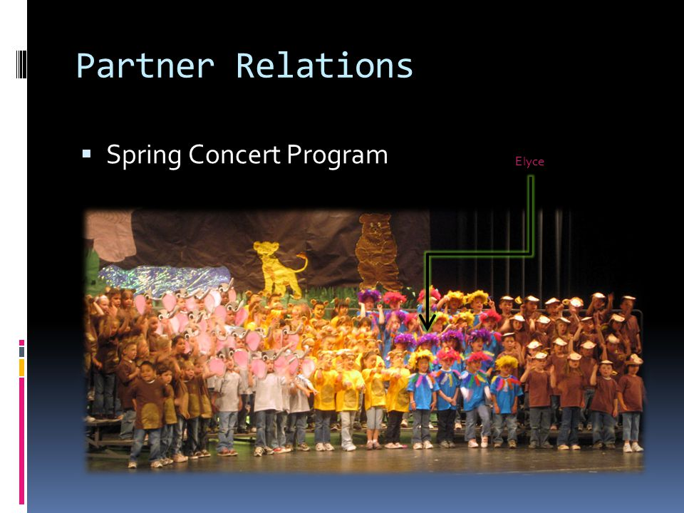 Partner Relations  Spring Concert Program Elyce
