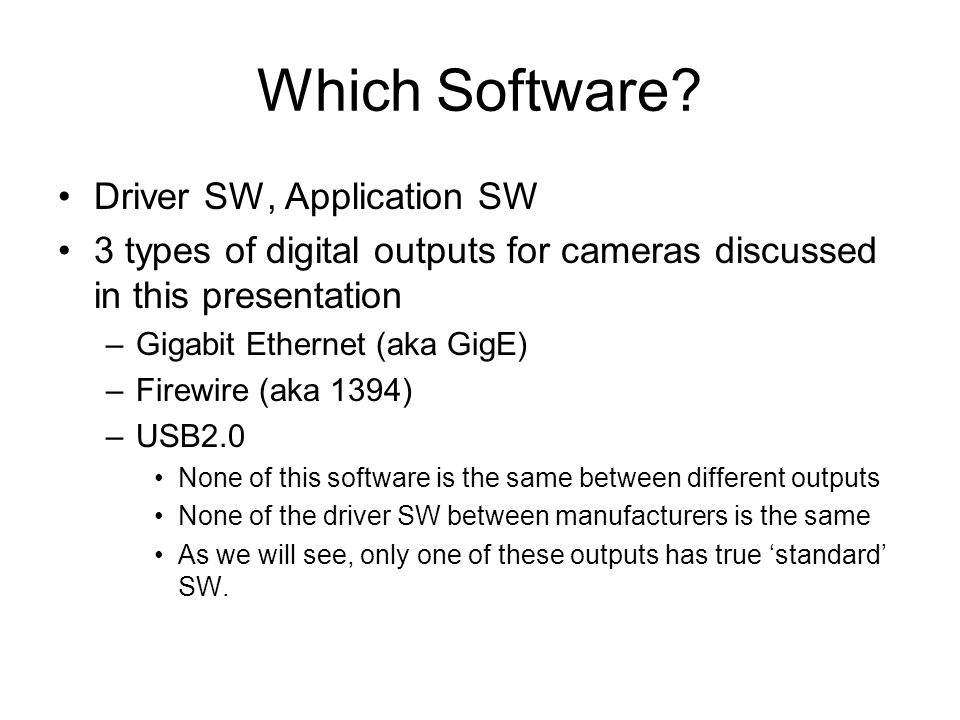 Which Software.