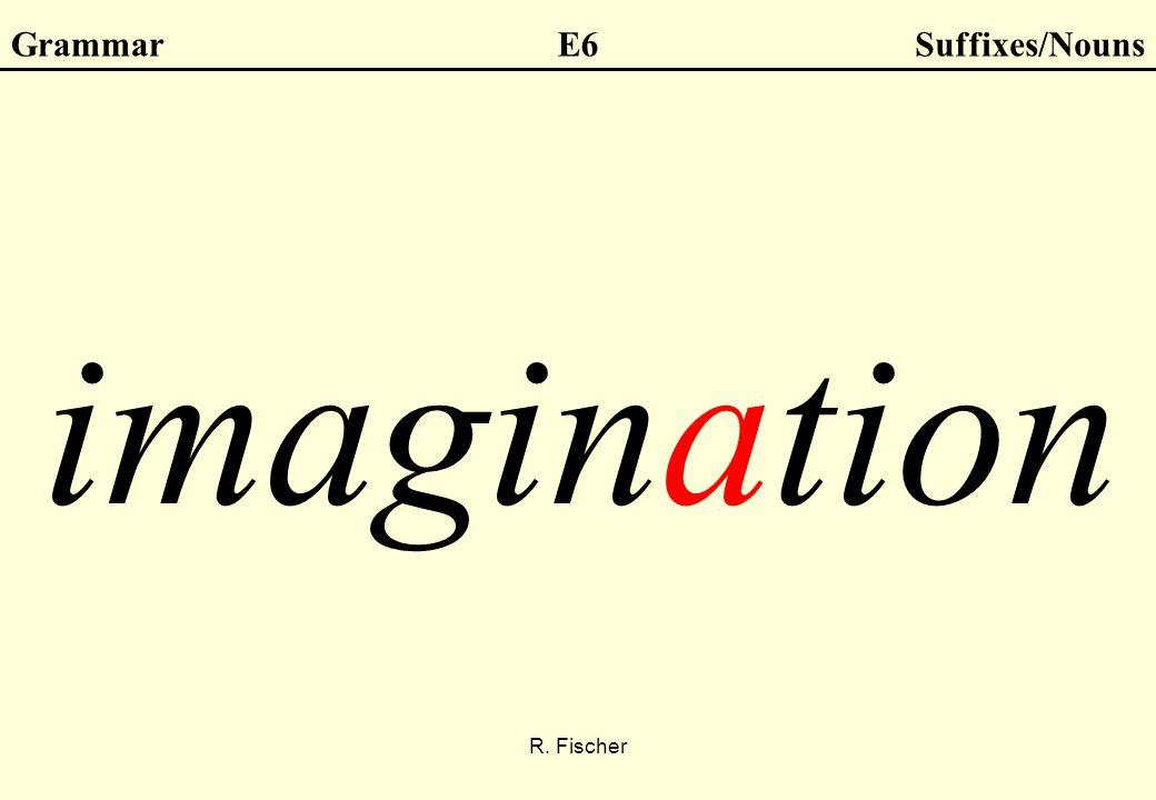 R. Fischer GrammarE6Suffixes/Nouns imagination