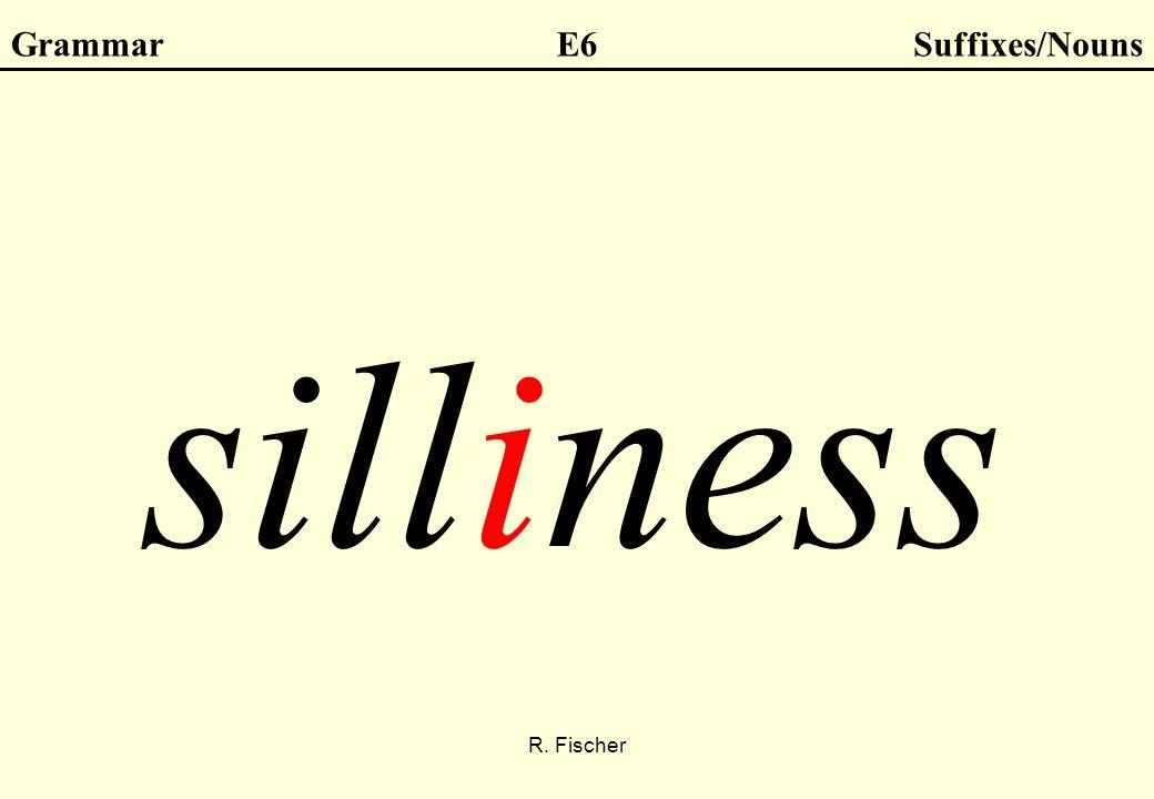 R. Fischer GrammarE6Suffixes/Nouns silliness
