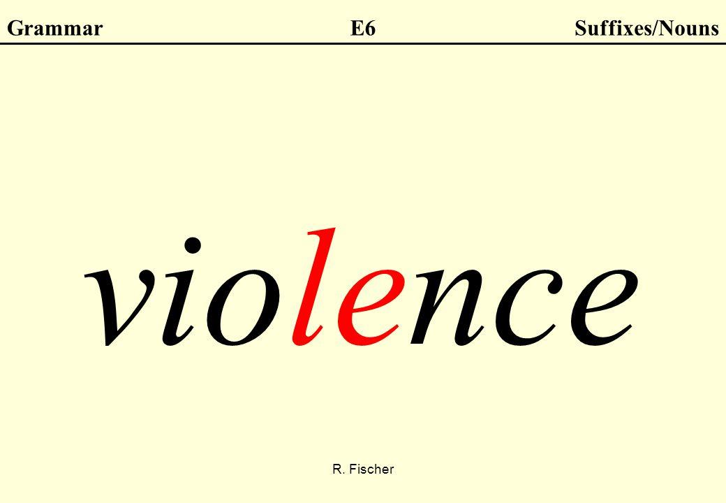R. Fischer GrammarE6Suffixes/Nouns violence